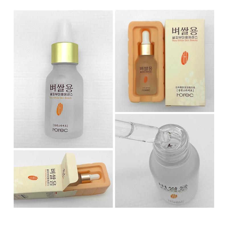 HOREC White Rice Whitening Serum Face Moisturizing Cream Anti Wrinkle Anti Aging Face Fine Lines Acne Treatment Skin Care 15ml