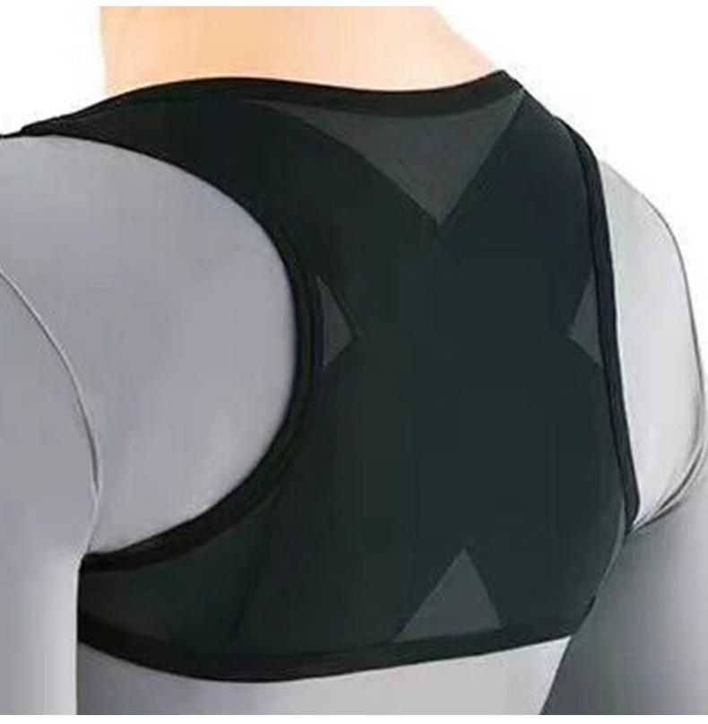 Ladies Adult Adjustable Posture Corrector Brace Net Breathable Back Spine Support Belt Humpback Shoulder Posture Correction Belt