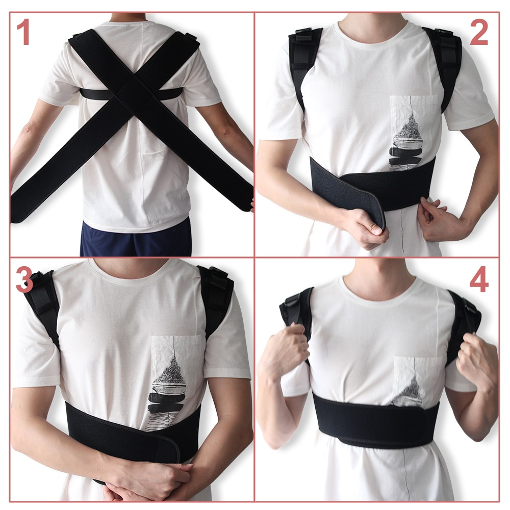 Adjustable Corrector X-Shape Corset Back Brace Straightener Upper Shoulder Spine Support Belt Posture Correction For Men Women