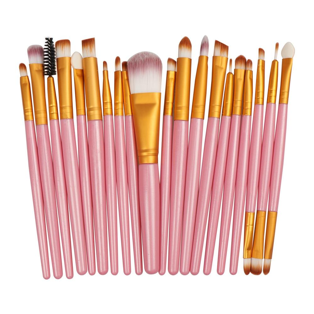 La Milee 20/5Pcs Makeup Brushes Set Eye Shadow Foundation Powder Eyeliner Eyelash Lip Make Up Brush Cosmetic Beauty Tool Kit Hot