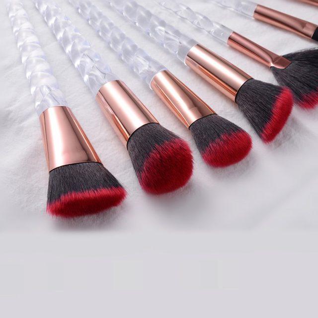 10pcs Unicorn Makeup Brushes Sets Maquiagem Foundation Powder Cosmetic Blush Eyeshadow Women Beauty Glitter Make Up Brush Tools