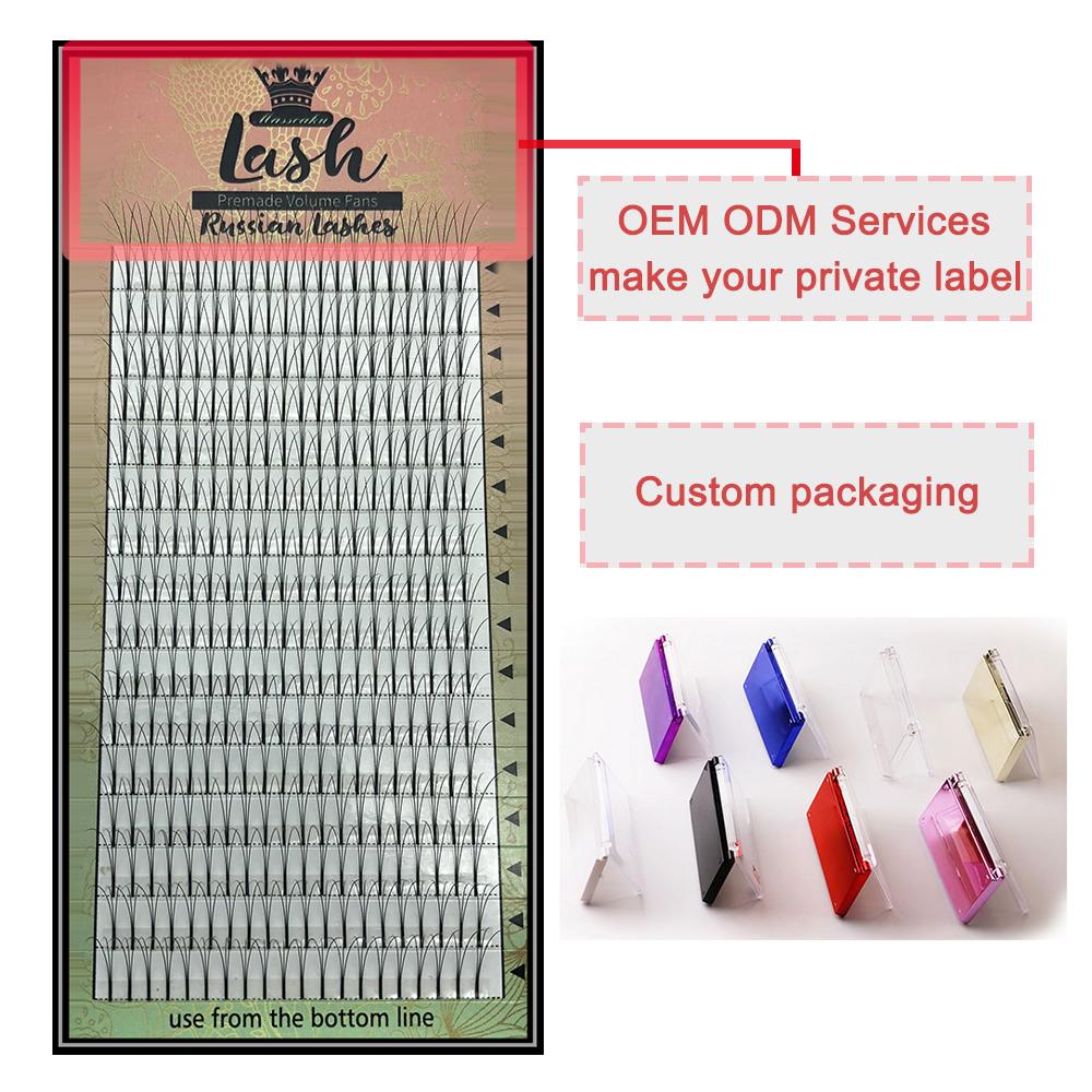 MAS Lashes 16 Lines Premade Volume Fans 3d/4d/5d/6d Lash Russian Volume Eyelash Extensions Pre made Lash Extension Faux Mink