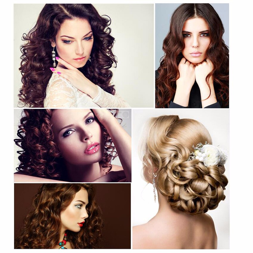 Queenme Automatic Hair Curler Magic Curling Iron LCD Screen Ceramic Heating Anti-perm Wave Curl Styler Hair Care Styling Tools