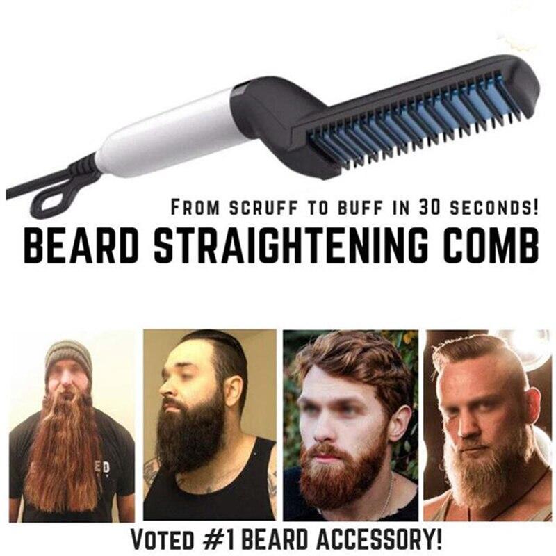 Men Quick Beard Straightener Styler Comb Multifunctional Hair Curling Curler Show Cap Tool Electric Hair Styler for Men