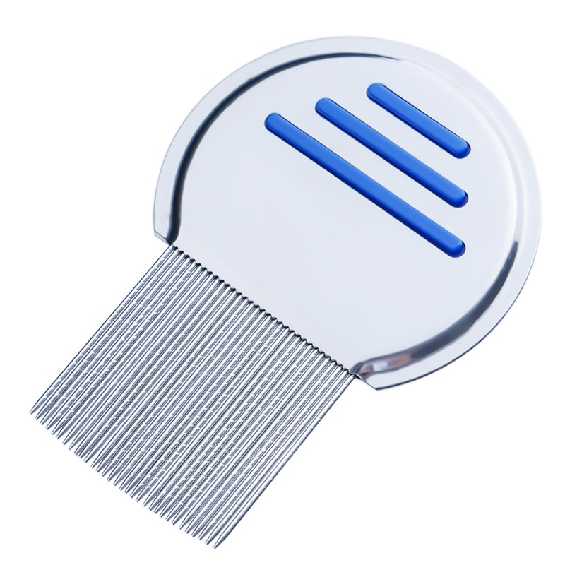 1PC Stainless Steel Kids Hair Terminator Lice Comb Nit Free Rid Headlice Super Density Teeth Remove Nits Comb Hair Tool Dropship