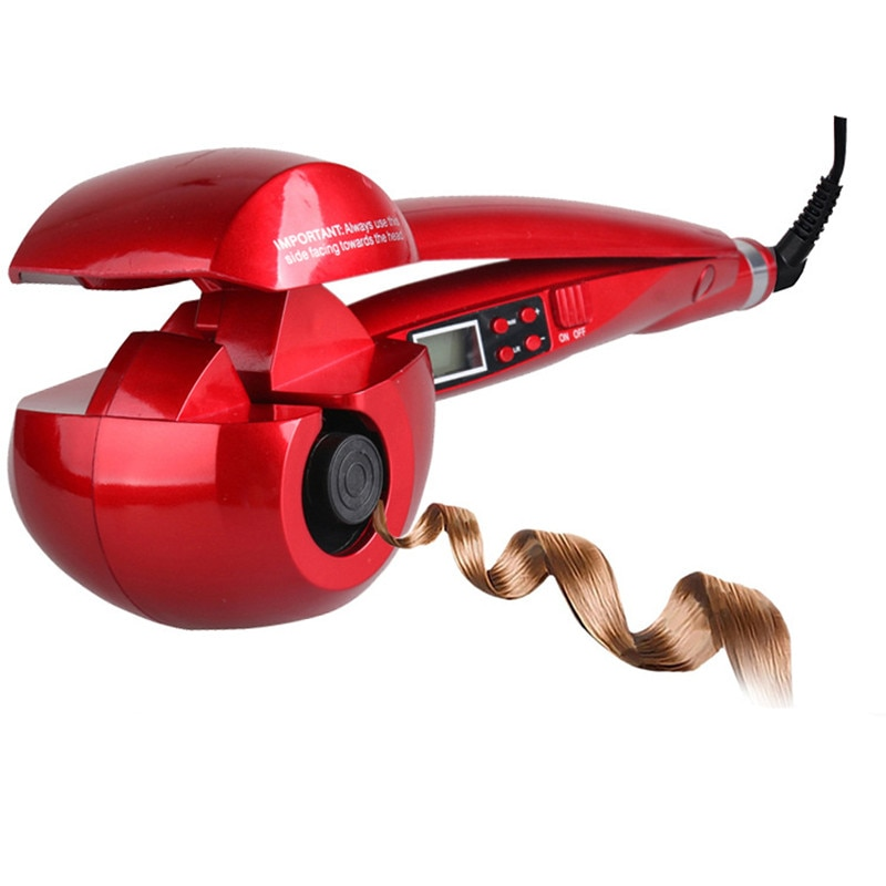 New Automatic LCD Anti-Scalding Curling Iron Hair Heating Curler Wand Styling Tools Styler Curl Iron Ceramic Curlers Spiral WXB