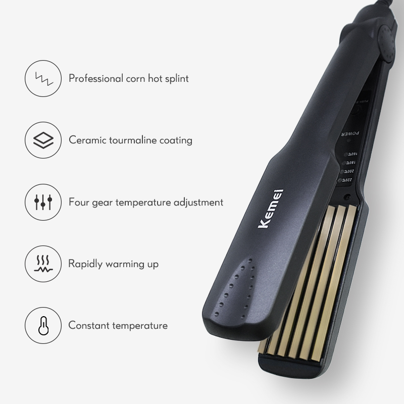 Professional Small corrugation Hair Curler Tourmaline Ceramics Curling Iron Adjustable Temperature Hair Styling Tools 40D