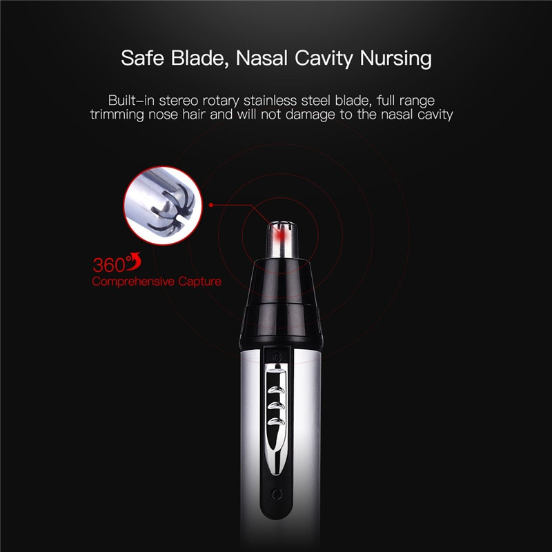 CkeyiN 3 in1 Electric Ear Nose Trimmer for Men's Shaver Rechargeable Hair Removal Eyebrow Trimer Safe Lasting Face Care Tool Kit