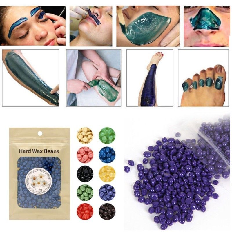 Pearl Hard Wax Beans Hot Film Wax Bead Hair Removal Wax Depilatory Removing Unwanted Hairs in Legs and Other Body Parts