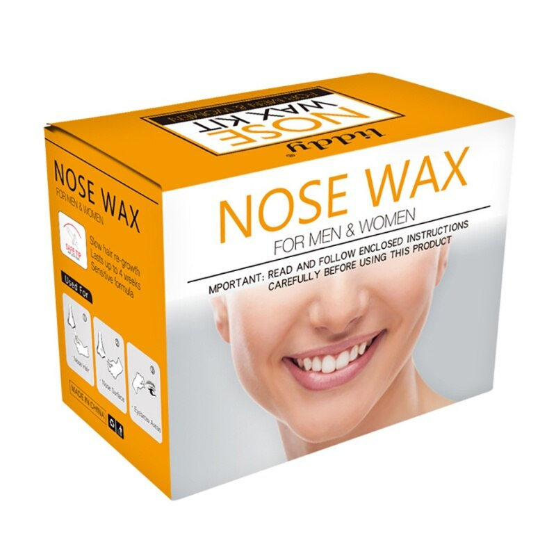 Portable Painless Nose Wax Kit For Men & Women Nose Hair Removal Wax Set Paper-Free Nose Hair Wax Beans Cleaning Wax Kit