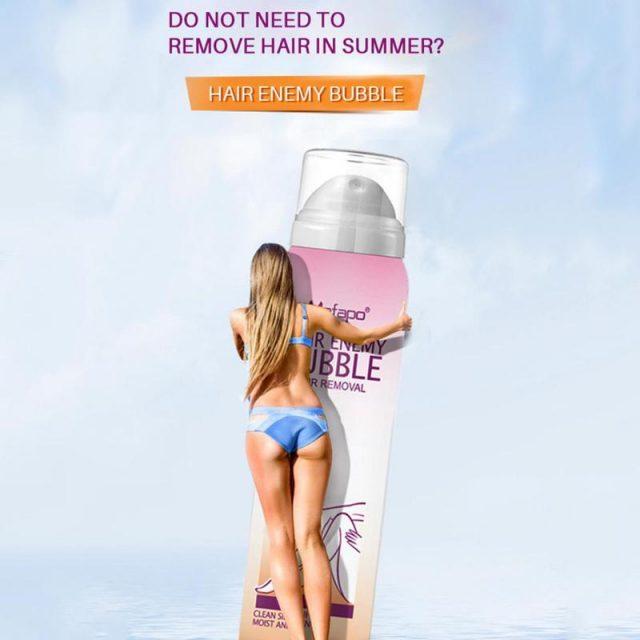 Painless Hair Removal Cream Spray Away Depilatory Bubble Wax Body Bikini Legs Hair Remover Foam Mousse in Spray Bottle Dropship