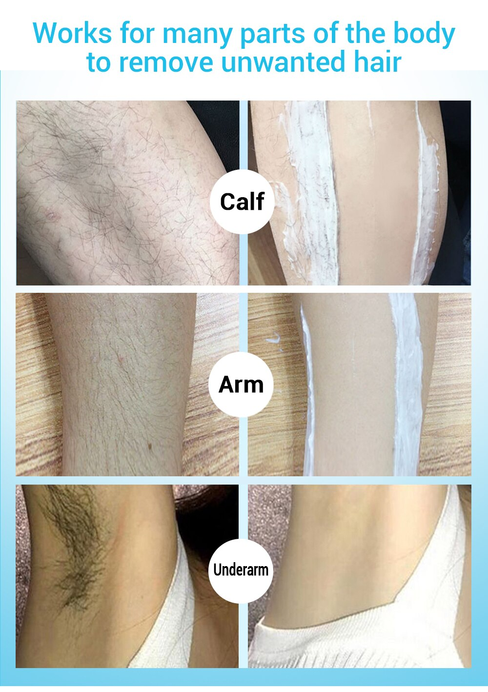 LANBENA Hair Removal Cream Painless Removal Depilation Calming Balm Gentle Effective Epilator Nourishing Repairing Body Care 80g