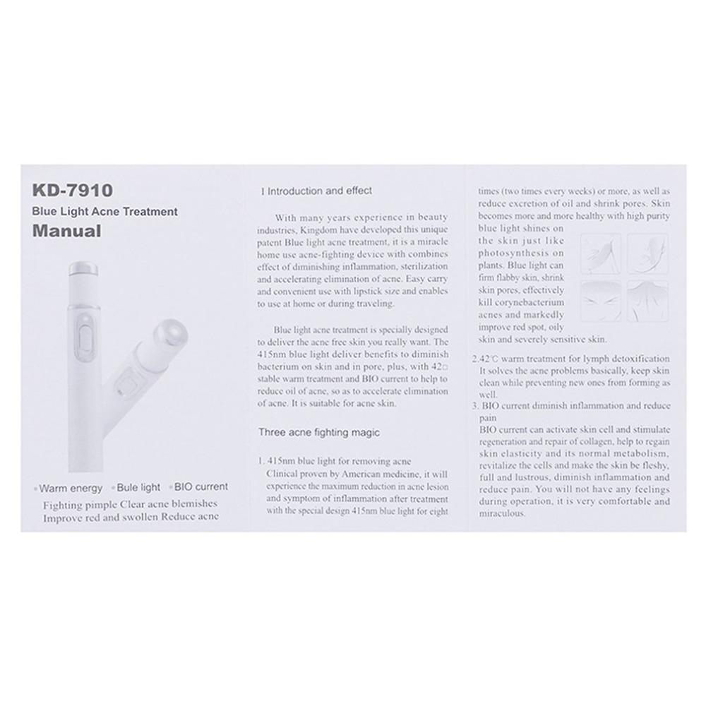 KD-7910 Blue Light Therapy Pen Scar Acne Removal Face Skin Care Portable Beauty Pen Scar Wrinkle Remover Device Acne Laser Pen