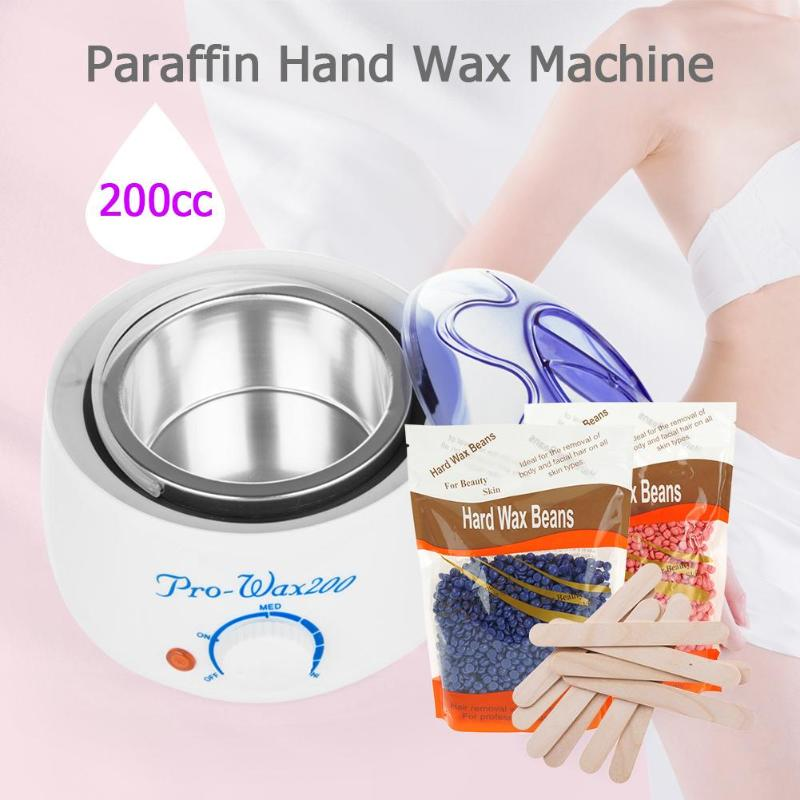 200cc 500cc Hand Wax Machine Hot Paraffin Wax Warmer Heater Body Depilatory Salon SPA Hair Removal Tool with Wax Dropshipping