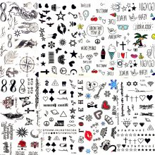 Hot Small Sexy Lips Leaf Black Cartoon Temporary Tattoo Cute Star Tattoo Sticker Love Women Body Finger Art Waterproof Tatoo Kid