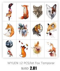 HXMAN Flower Temporary Tattoos for Women Hand Tattoo Sticker Fashion Body Art Waterproof Arm Fake Tatoo Paper 9.8X6cm P-013