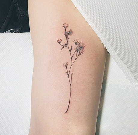 Waterproof Temporary Tattoo Sticker sexy baby's breath flower  birds gun feather Water Transfer fake  flash  tattoo тату