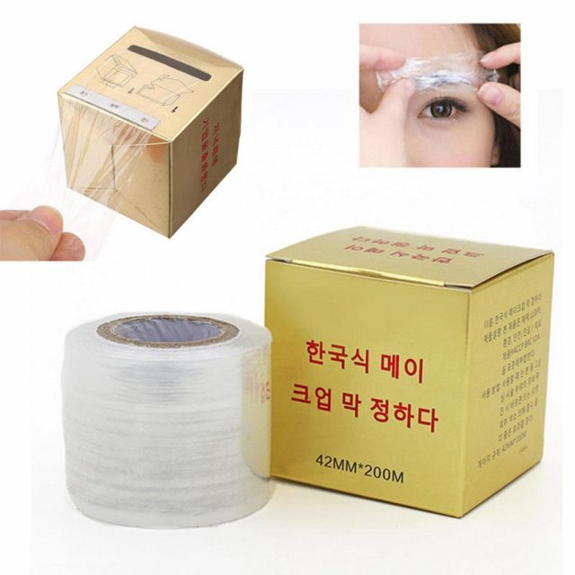 New 1 box Microblading Clear Plastic Wrap Preservative Film for Permanent Makeup Tattoo Eyebrow Tattoo Accessories