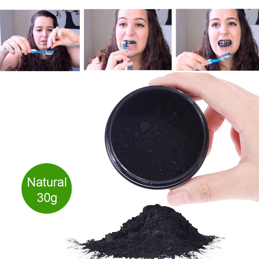 OSHIONER 30g Teeth Whitening Oral Care Charcoal Powder Natural Activated Charcoal Teeth Whitener Powder Oral Hygiene