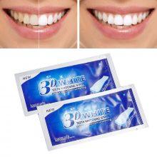 2pcs/Bag Professional 3D Teeth Whitening Strips Dental Bleaching Advanced White Gel Strips Oral Hygiene Care Dental Tools TSLM2