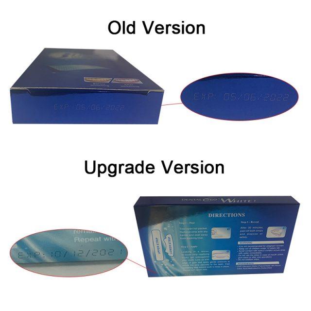 7/14 Pairs 3D White Gel Teeth Whitening Strips Stain Removal Oral Hygiene Care Strip Dental Bleaching Tools Teeth Whitening
