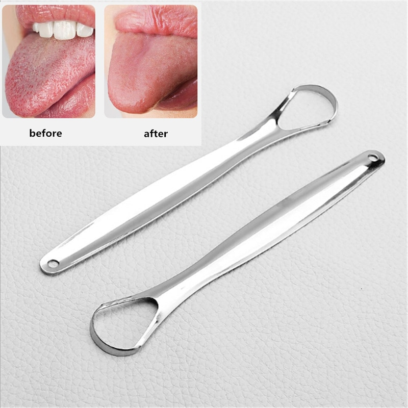 1PC Useful Tongue Scraper Stainless Steel Oral Tongue Cleaner Medical Mouth Brush Reusable Fresh Breath Maker