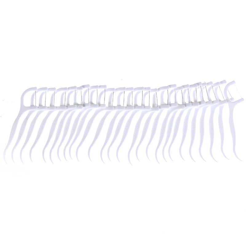 50pcs/lot Dental Flosser Oral Hygiene Dental Sticks Dental Water Floss Oral Teeth Pick Tooth Picks ABS Floss with Portable Case