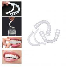2Pcs Smile Teeth Braces Set Smile Denture Cosmetic Teeth Comfortable Veneer Cover Teeth Whitening Teeth Denture Toys for Kids