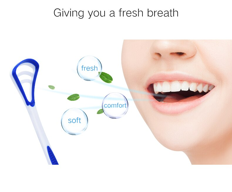 2018 new Y-Kelin Tongue Scraper  Brush Oral cleaning tongue toothbrush  cleanering brush Fresh Breath remove coating