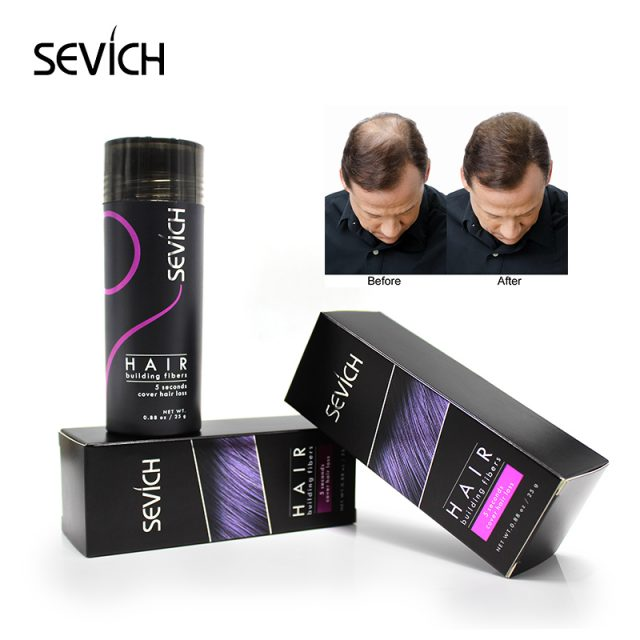 Hair Building Fibers Keratin Thicker Anti Hair Loss Products Concealer Refill Thickening Fiber Hair Powders Growth sevich 25g