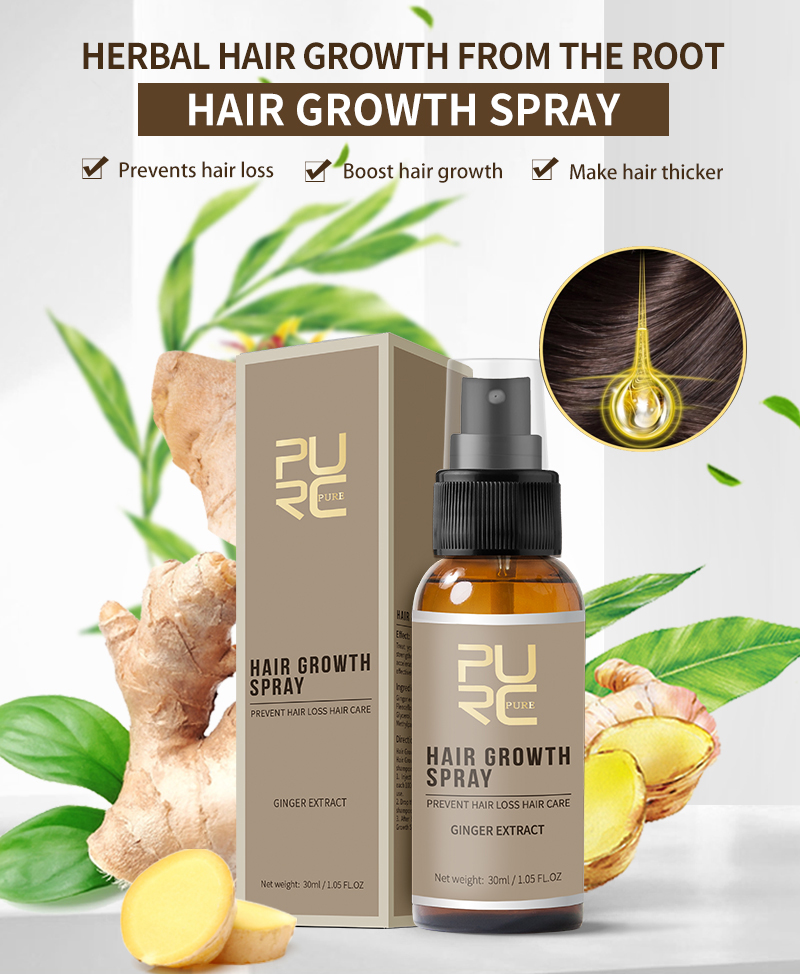 PURC 2019 New Hair Growth Spray Fast Grow Hair hair lossTreatment Preventing Hair Loss 30ml