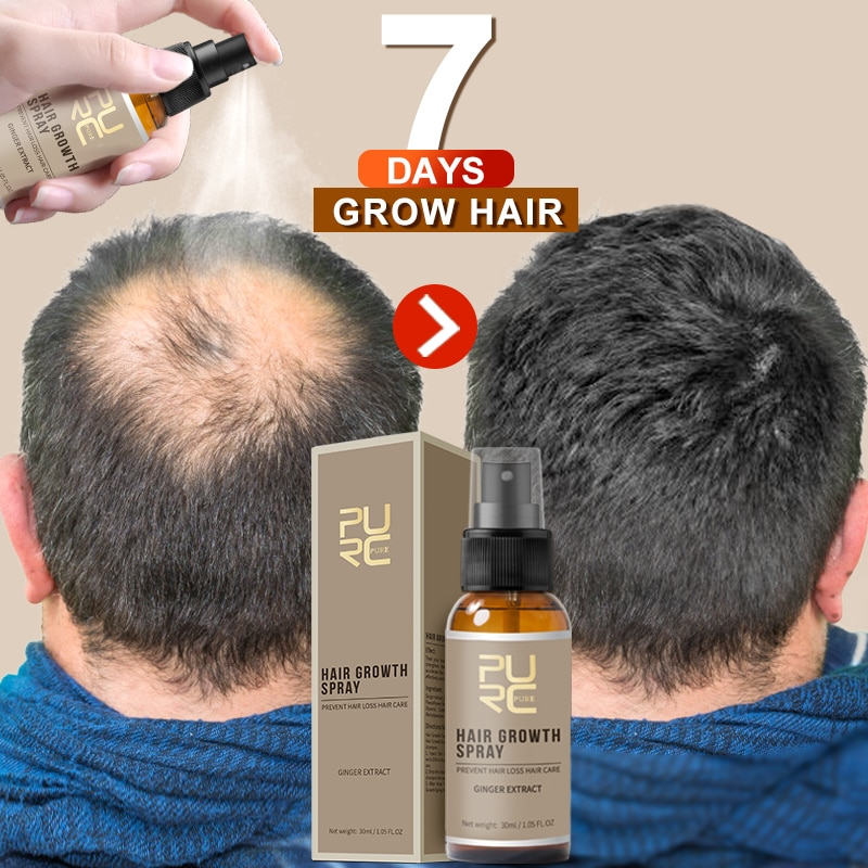 PURC 2019 New Hair Growth Spray Fast Grow Hair hair lossTreatment Preventing Hair Loss 30ml