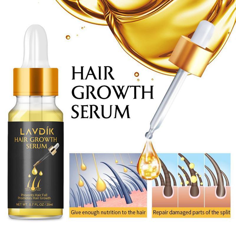 LAVDIK Ginger Fast Hair Growth Serum Essential Oil Anti Preventing Hair Lose Liquid Damaged Hair Repair Growing Dropship TSLM1