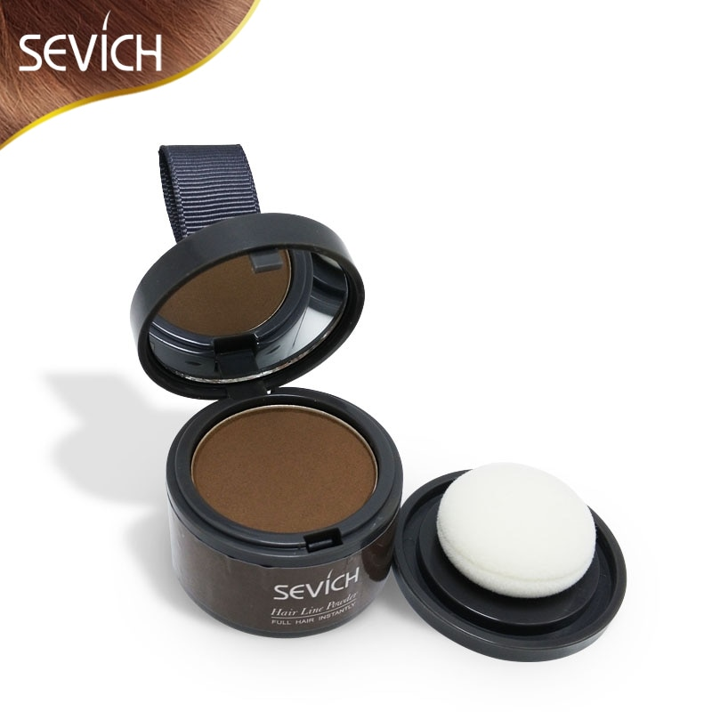 Sevich Makeup Hair Line Shadow Powder Eyebrow Powder Extract Easy to Wear Make Up neat symmetry hairline with Mirror Puff Fibers