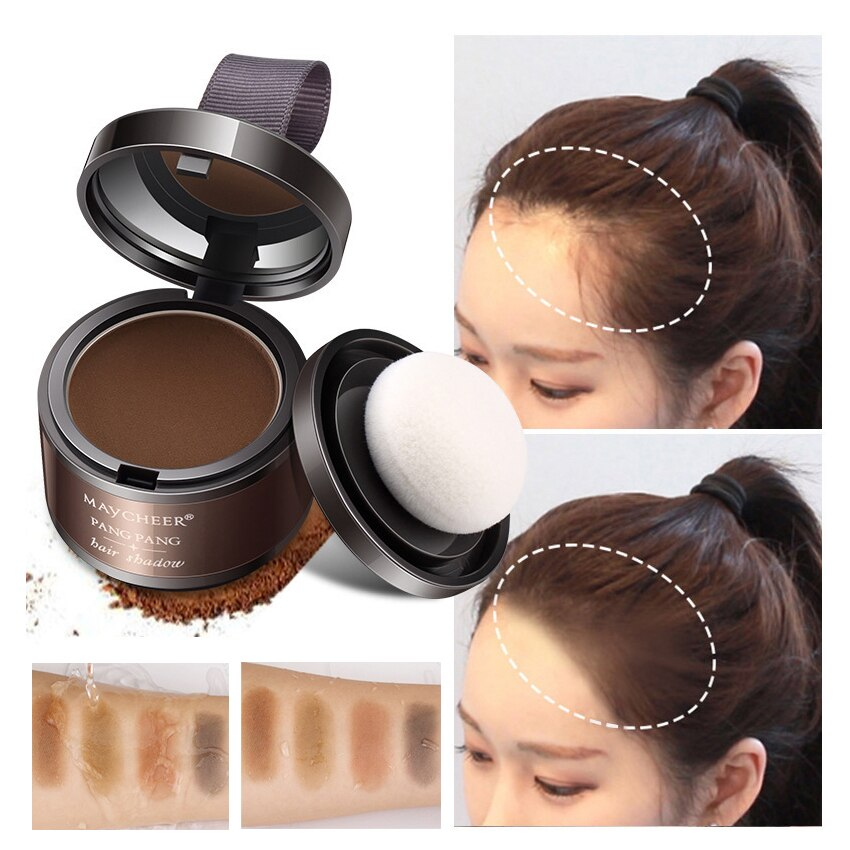 MAYCHEER Hair Fluffy Powder Instantly Black Root Cover Up Natural Instant Hair Line Shadow Powder full Hair Concealer Coverage
