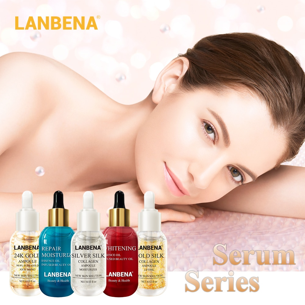 LANBENA Skin Serum Ampoule Essential Oil Hyaluronic Acid Face Cream Whitening Firming Moisturizing Nourishing Collagen Skin Care