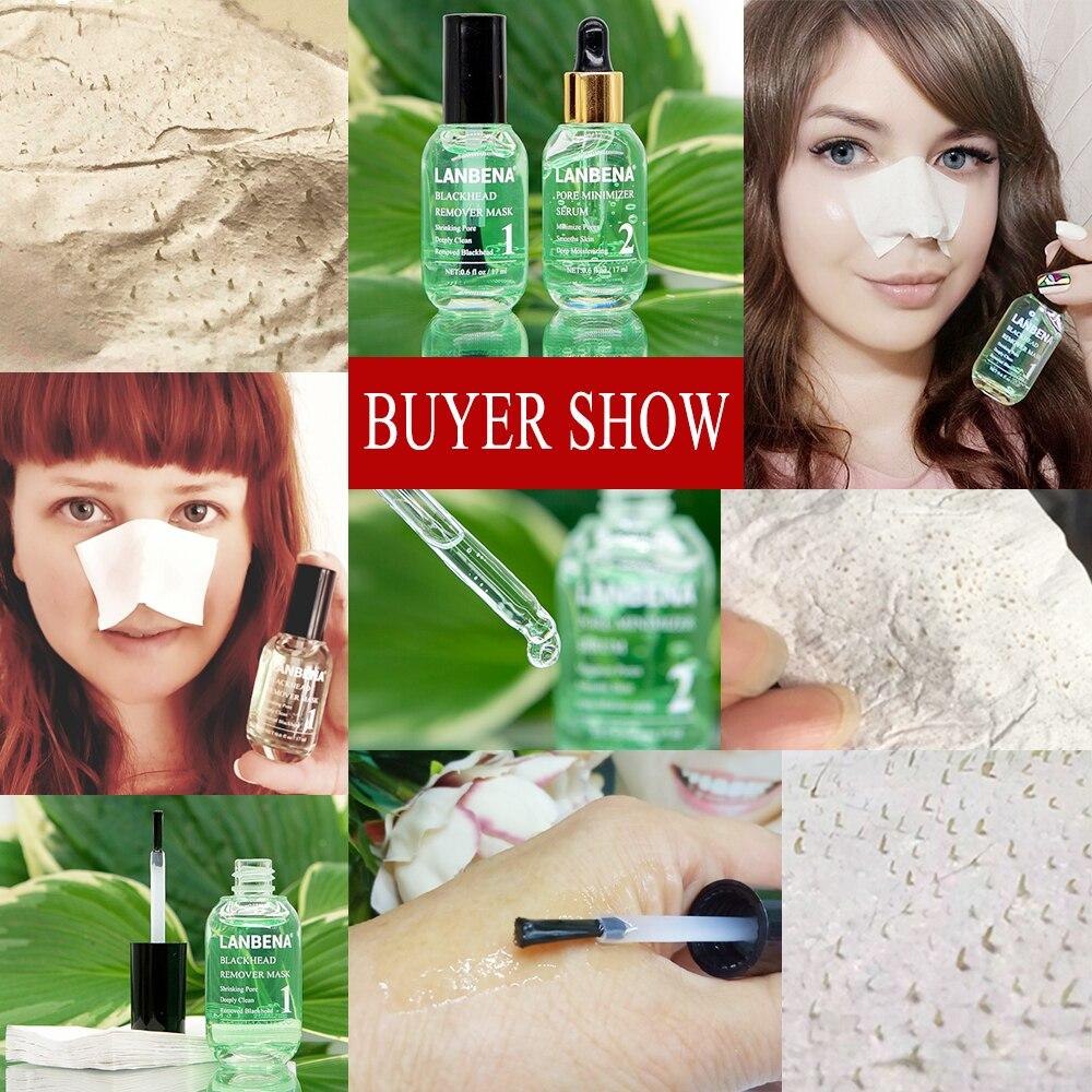 Lanbena Blackhead Remover Mask Face Black Mask Pore Treatment Serum Anti Acne Facial Peeling Masks Cleansing Skin Care Beauty