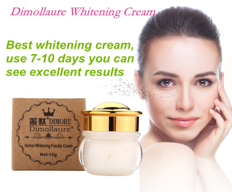 Dimollaure whitening Freckle cream+Fullerene 24k Gold Serum Anti-aging wrinkle Serum Removal melasma sunburn brown spot melanin