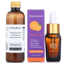 Dimollaure 30g pure Kojic Acid whitening cream+Vitamin C serum removal Acne Pimples Anti Aging pigmentt melanin Wrinkle cream