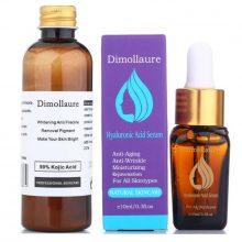 Dimollaure 30g pure Kojic Acid whitening cream+Snail Hyaluronic acid serum removal Acne scar pigment melanin Moisturizing