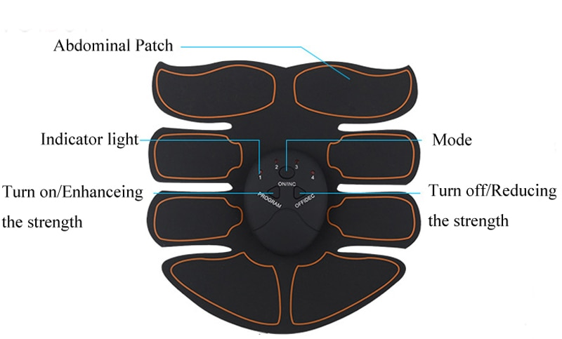 EMS Wireless Smart Muscle Stimulator Abdominal Trainer Hip Trainer Buttocks Butt Lifting Slimming Massager Body Shaping Unisex