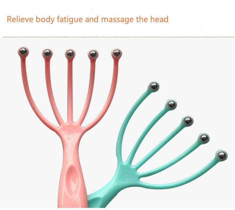 Hot seller Scalp massager Steel Ball head Massage Relaxation Five Finger  Massager for head