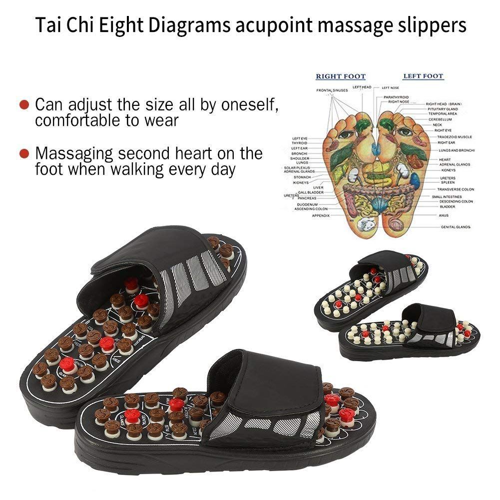 Foot Massage Slippers Acupuncture Therapy Massager Shoes For Foot Acupoint Activating Reflexology Feet Care Massageador Sandal