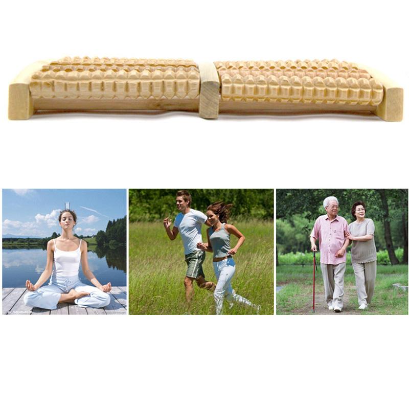 5 Raw Wooden Foot Roller Wood Care Massage Reflexology Relax Relief Massager Spa Gift Anti Cellulite Foot Massager