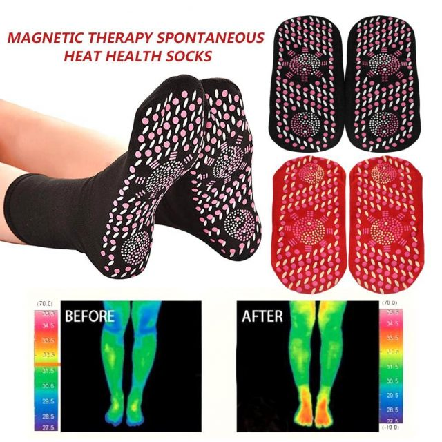 Self-heating physiotherapy socks Tourmaline Magnetic Therapy foot massage warm socks Healthy care Arthritis feet Massager