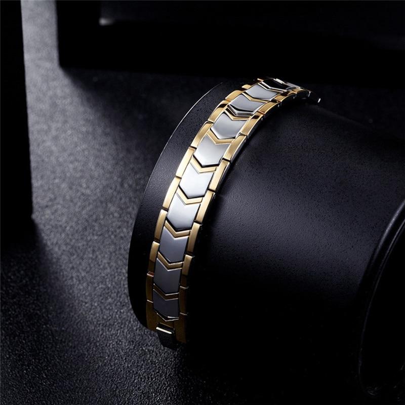 Men's Bracelet Bracelets Energy Germanium Magnetic Tourmaline Bracelet Health Care Jewelry For Women Bracelets Bangle Slimming