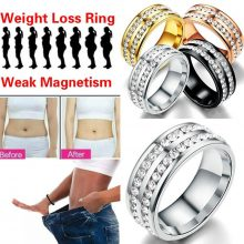 1PC Stimulating Acupoints Gallstone Ring Magnetic Health Care Ring Weight Loss Slimming Ring String Fitness Reduce Weight Ring