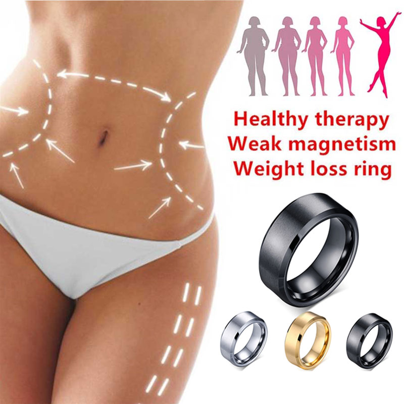 Magnetic Medical Magnetic Weight Loss Ring Slimming Tools Fitness Reduce Weight Ring String Stimulating Acupoints Gallstone Ring