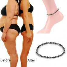 Magnetic Weight Loss Slim Anklet Bracelet Black Gallstone Slimming Stimulating Acupoints Therapy Fat Burning Health Care