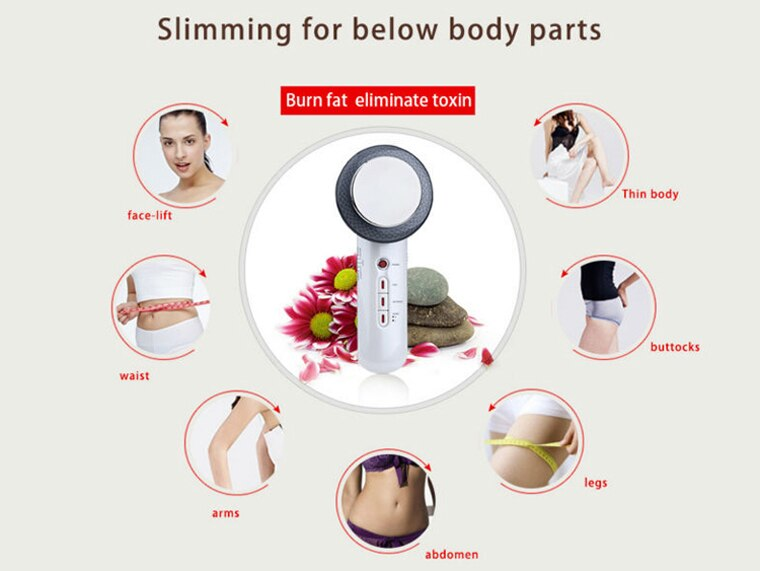 Ultrasound Cavitation EMS Body Slimming Massager Weight Loss Anti Cellulite Fat Burner Galvanic Infrared Ultrasonic Wave Therapy
